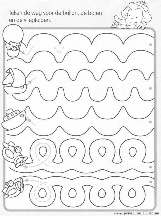 tracing the dotted lines worksheet preschool crafts. Black Bedroom Furniture Sets. Home Design Ideas