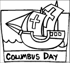 Columbus Day Coloring Pages for Kids - Preschool and Kindergarten