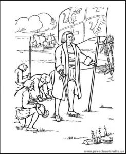 Columbus day coloring pages for kids preschool and for Christopher columbus coloring pages printable