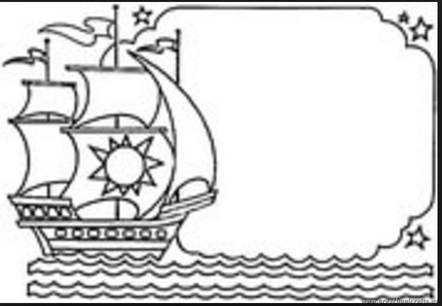 Columbus Day Coloring Pages For Kindergarten : Christopher columbus day coloring pages for