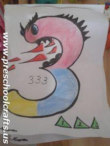 Number 3 Coloring Pages for Preschool Preschool and Kindergarten