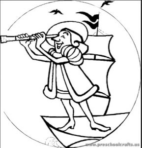 Columbus day coloring pages for kids preschool and for Columbus coloring page