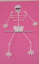 first-grade-making-skeleton-with-ear-stick