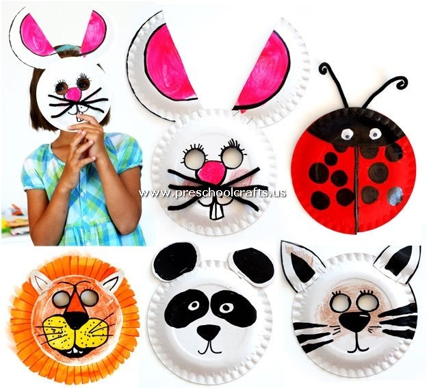 animal-mask-craft-from-paper-plate  sc 1 st  Preschool Crafts & Paper Plate Craft Ideas for Kids - Preschool and Kindergarten
