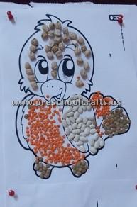 chick-using-beans-fro-preschool