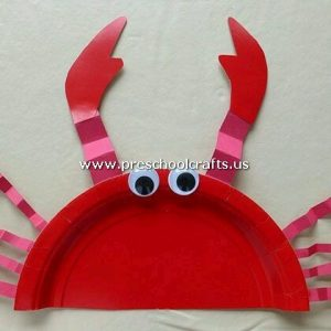 crab-craft-from-paper-plate