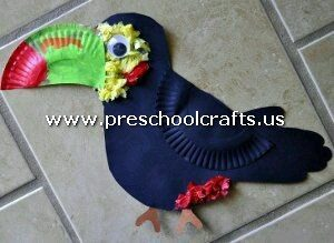 crow-craft-from-paper-plate
