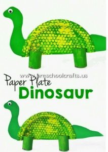 dinasour-craft-from-paper-plate-for-kids