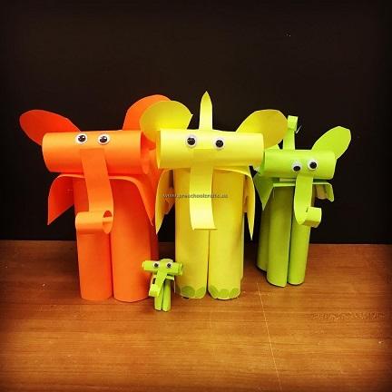 Elephant Crafts Ideas For Kindergarten Preschool And
