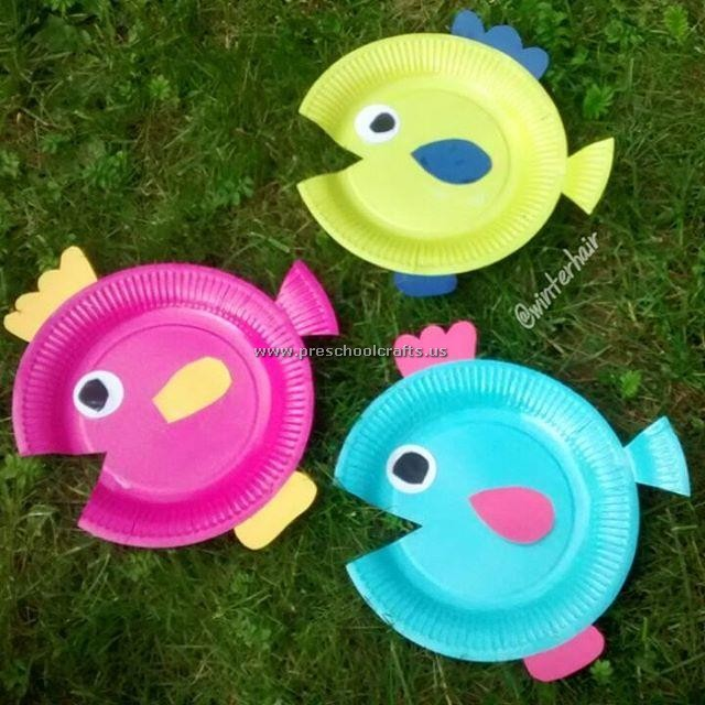 Fish crafts ideas paper plate preschool crafts for Fish crafts for preschoolers