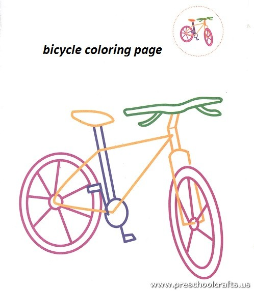 bicycle coloring pages preschool - free bicycle coloring pages for preschool preschool crafts