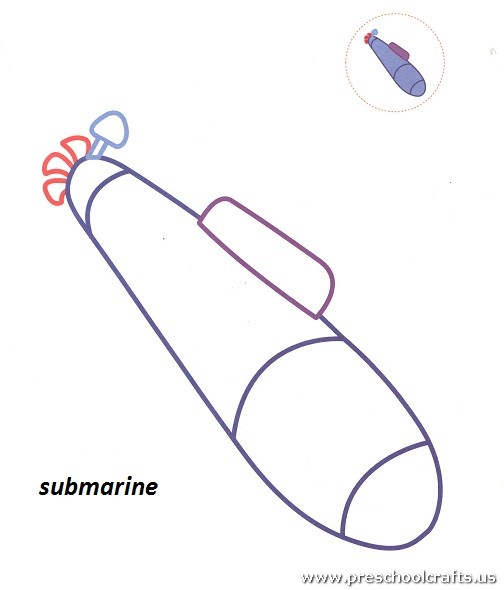 Free Submarine Coloring Pages For Preschool Preschool Crafts Submarine Coloring Pages