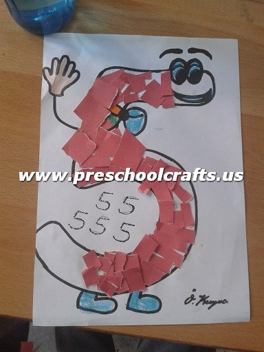 Funny number 5 craft ideas for kids preschool crafts for Number 5 decorations