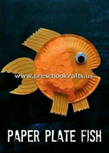 gold-fish-craft-from-paper-plate