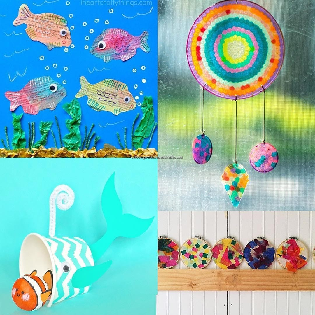 Kindergarten fish crafts ideas preschool crafts for Fish crafts for preschoolers