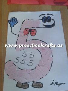 kindergarten-number-5-craft-ideas