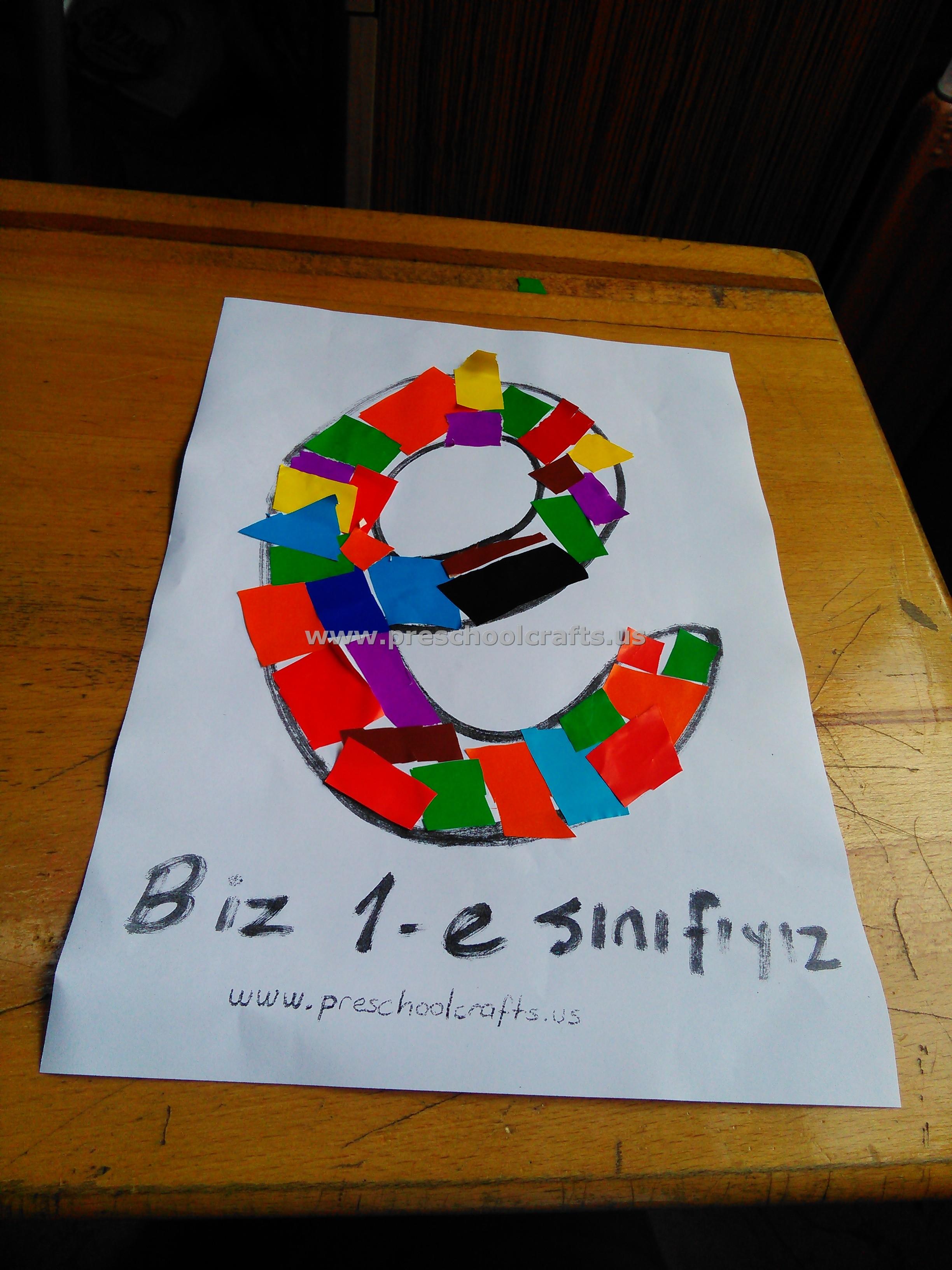 Letter E Crafts For Preschool And Kindergarten Preschool Crafts