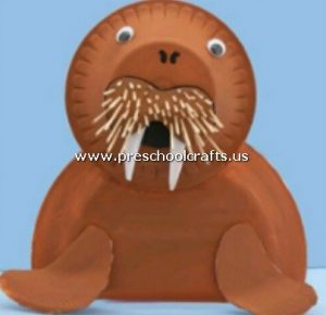 monk-seal-craft-from-paper-plate