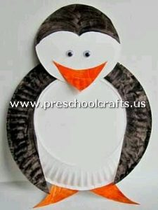 penquin-craft-from-paper-plate