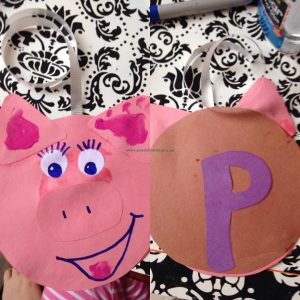 pig crafts idea for kindergarten
