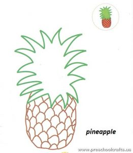 88 Free Printable Pineapple Coloring Pages For Kids