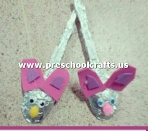 rabbit-craft-from-plastic-spoon