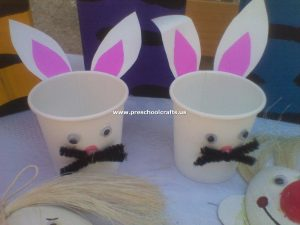 rabbit-pencil-case-craft-from-paper-cup