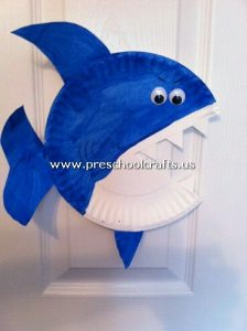 shark-craft-from-paper-plate