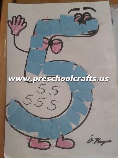 Simple number 5 craft ideas for preschool preschool crafts for Number 5 decorations