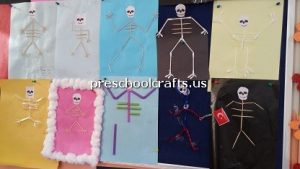 skeleton-theme-bulletin-board-for-preschool