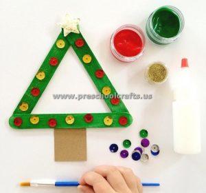 stick christmas tree crafts
