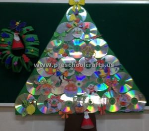 cd christmas tree crafts for kids