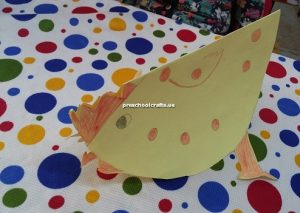 chicken craft idea for kindergarten and preschool