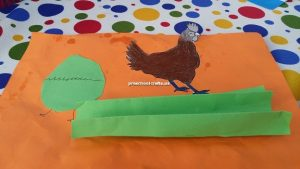 chicken crafts idea for kindergarten and preschool