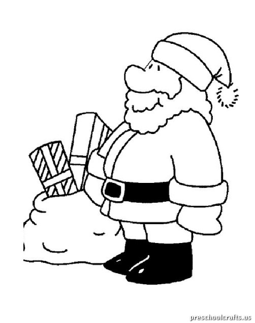 christmas coloring pages for kindergarten preschool crafts. Black Bedroom Furniture Sets. Home Design Ideas