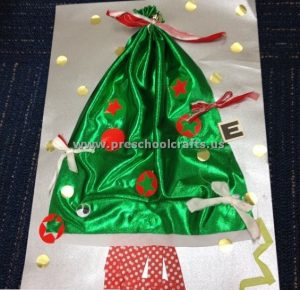 Merry Christmas Tree Crafts for Kids Preschool and #2: christmas tree craft ideas for preschool 300x290