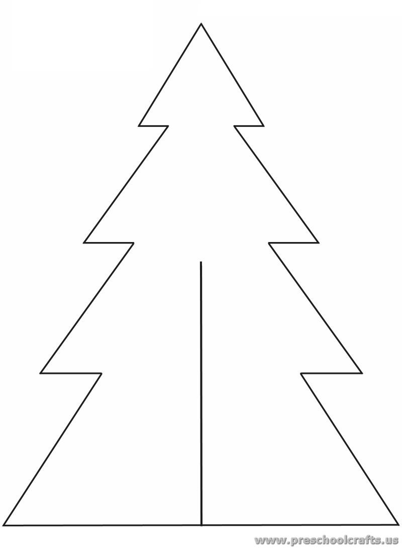 friendship tree template - christmas tree template for kids preschool crafts