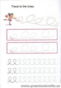 free lines tracing exercise for preschool