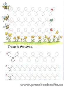 free lines tracing exercises for preschool