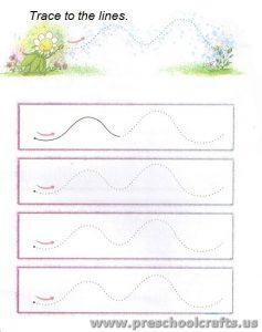 free printable lines tracing worksheets
