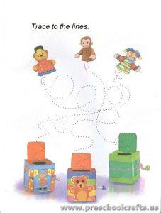 line tracing worksheets for kids