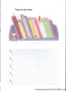 line tracing worksheets for preschool