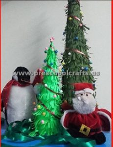 paper christmas tree for kids