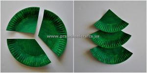 paper plate christmas tree crafts