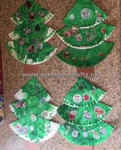 paper plate christmas tree for kids