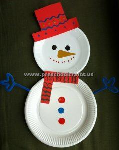 paper-plate-snowman-craft-idea