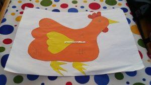 preschool chicken craft idea