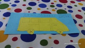 scchool bus craft ideas for preschool vehicles crafts
