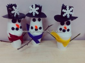 snowman-craft-ideas-from-paper-cup