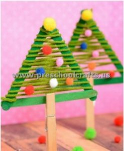 stick christmas tree craft ideas for kids